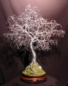 Bonsai with Hammered Leaves wire tree sculpture by by salvatore7, $595.00