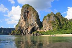 #1 of Best Beaches In Thailand - Phra Nang Beach is located at the southern tip of Railay, a peninsula on the Andaman Coast. Framed by stunning limestone cliffs and blessed with clear, emerald waters and beautiful white sands, it is considered one of the most beautiful beaches in Thailand. It is also popular with climbers who enjoy scaling Railay's massive limestone rocks.