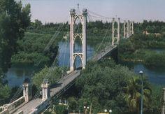 Beautiful view to the bridge in Deir ez-Zor, Syria