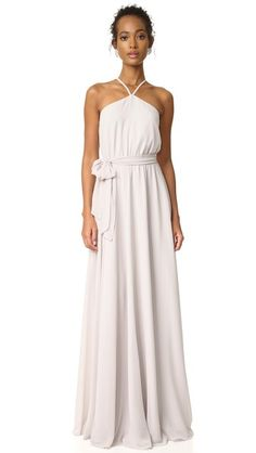 Joanna August Allison Skinny Strap Gown