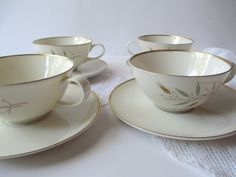 Vintage Syracuse China Elegance Teacups and by thechinagirl