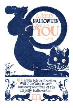 John Martin's Book – October, 1926 Halloween Poems, Halloween Ii, Holidays Halloween, Vintage Halloween, Happy Halloween, Will O The Wisp, Bobbing For Apples, John Martin, Bound Book