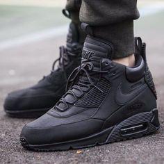 new styles 82ec6 f4fc5 Nike Air Max 90 Sneakerboot WNTR Shoe Sz 9 Mens BlackBlack 684714-002