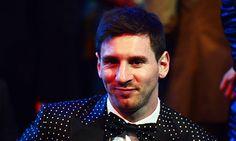 FIFA Ballon d'Or 2012 award:   Lionel Messi (Argentina & Barcelona) 41.6%  Cristiano Ronaldo (23.68%) & Andreas Iniesta (10.91%)