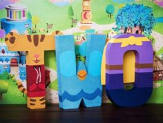 Daniel Tiger Party / Decor / Letters / Milestone Letters - Daniel Tiger, O the Owl, Prince Wednesday