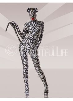 $78.99 Gray Lycra #Leopard #Catsuits