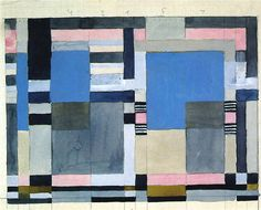 Design for a double-weave  Bauhaus Weimar  21x26.5 cm    Private collection