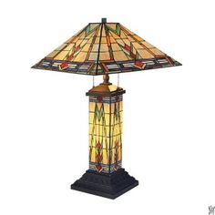 Sedona 2-Light Table Lamp In Tiffany Bronze