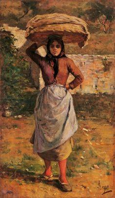 Silvestro Lega, La Procaccina del Gabbro 1865 circa