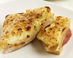 Croque Monsieur ~ trust the French to come up with the best toasted cheese and ham sandwich!