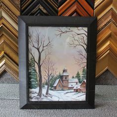 Framed by Belle River Glass - Roma Moulding