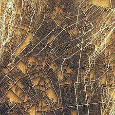 Cartographie de villes – Flots urbains