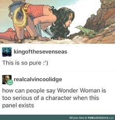 Love how Wonder Woman can go from super strong and serious and also have moments like this <3 :)