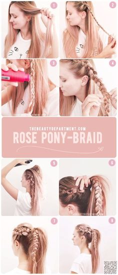 11. Rose Pony #Braid - You Must Try These #Ponytail Hacks Today... or #Maybe Tomorrow ... → Hair #Tutorials