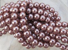 25 Yards Roll of Pearls 6 mm Pearl Like Garlands Ivory Pearl Curtain Strain USA