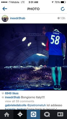 """R3HAB wearing the 2014 World Cup Netherlands Away jersey with name """"R3HAB"""" and #58. Get your jersey at edmgears.com"""
