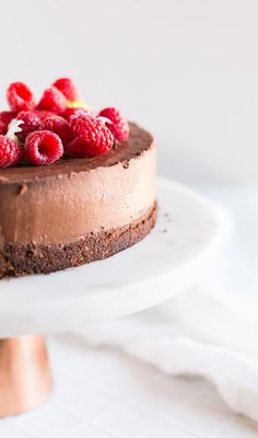 The softest, silkiest baked chocolate cheesecake you will ever make - plus all the secrets on how to prevent a chalky, crumbly overbaked cheesecake.