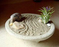 Peaceful ZEN Garden Concrete Planter and Air Plant
