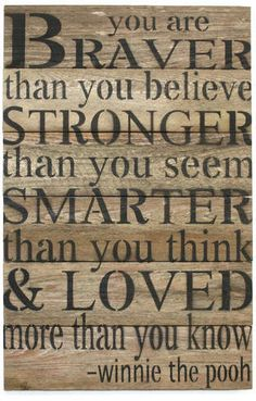 Andover Mills 'You Are Braver Than You Believe ?' Textual Art on Wood #ad