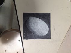 White Charcoal Egg Drawing James O'Connell 4A