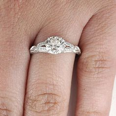 Leigh Jay Nacht Inc. - Replica Art Deco Engagement Ring - 9282