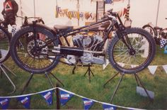 1929 james v twin Some of the bikes used on the early dirt tracks