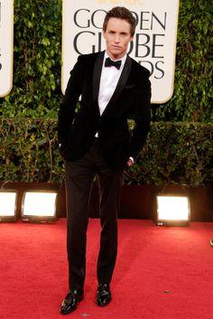 Eddie Redmayne was looking hot at the Golden Globes!
