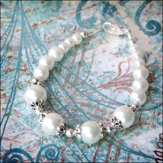 White Multi Sized Beads Imitation Pearl by lajoliefilleboutique, $6.00