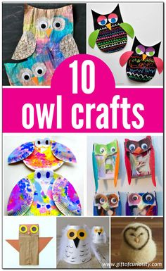 10 adorable owl crafts for kids to make Fall Preschool Activities, Art Activities, Preschool Crafts, Crafts For Kids To Make, Gifts For Kids, Art For Kids, Bird Crafts, Animal Crafts, Arts And Crafts Projects