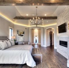 dream house rooms Make sure to enter my giveaway check out my last post! Now how stunning i Master Bedroom Design, Home Bedroom, Bedroom Decor, Bedroom Ideas, Huge Master Bedroom, Bedroom Lighting, Glam Bedroom, Master Suite Layout, Bedroom Designs
