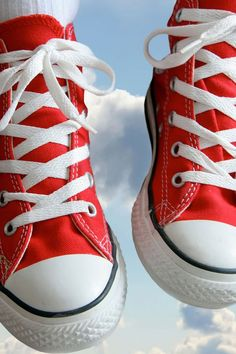 67c969ce23c1 Converse Chuck Taylors Red Sneakers