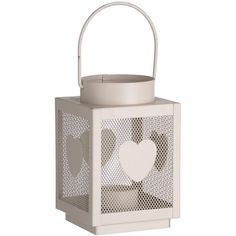 We have the  Cream  Heart  Lantern here at Temporal Interiors. If you require any more information please contact us. The dimensions are 9cm x 9cm x 14cm