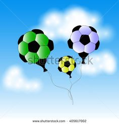 Soccer ball with world map stock vector paris soccer soccer ball balloons stock vector gumiabroncs Gallery