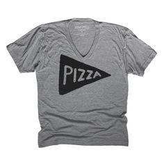 Unisex Vneck Pizza T-shirt