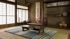 restored tatami room in Japan