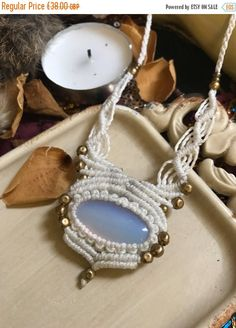 ON SALE Röötz - Opalite necklace jewellery Macrame necklace Cord necklace Healing crystals and stones Crystal necklace Stone necklace hipp #bohemian #jewellery #ethnicjewelry #tribaljewelry #jewelry #fashion #bohemianstyle #acessories #bohostyle