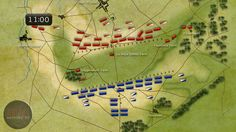 The Battle of Waterloo was fought 8 miles south of Brussels, on a battlefield chosen by the Duke of Wellington,commander of the Anglo-Allied army, for its defensive potential. The Anglo-Allied troops (RED) were deployed behind a gentle ridge, which offered protection from French artillery fire. Three farmhouses forward of the line, at Hougoumont, La Haye Sainte, and Papelotte, were fortified and garrisoned with elite troops. It was a deceptively strong position, but Wellington remained…