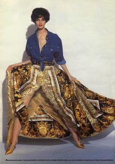ANNELIESE SEUBERT Grazia Editorial 1992 Photos: Avi Meroz Fashion: Gianni Versace