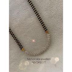 Diamond Mangalsutra, Gold Mangalsutra Designs, Gold Earrings Designs, Gold Jewellery Design, Necklace Designs, Beads Jewellery Designs, Gold Designs, Beaded Jewelry, Jewelry Bracelets