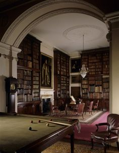 The Billiard Room at Nostell. Bookcases were installed here in the 1820s, and doubled in height in the 1870s. ©NTPL/Andreas von Einsiedel