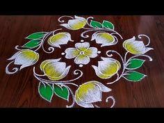 beautiful lotus flower rangoli Easy chukkala muggulu Easy rangoli Simple rangoli Thanks for watching 🙏🙏 Please like s. Very Easy Rangoli Designs, Rangoli Designs Latest, Rangoli Designs Flower, Free Hand Rangoli Design, Rangoli Ideas, Rangoli Designs Diwali, Rangoli Designs With Dots, Rangoli With Dots, Beautiful Rangoli Designs