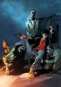 Dylan Dog Dylan Dog, Joker, Dogs, Painting, Fictional Characters, Wallpapers, Naruto Characters, Pet Dogs, Painting Art