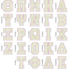 sorority letters letter stencils and sorority on pinterest