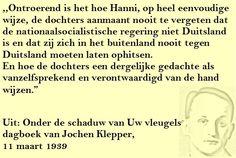 Quote. Jochen Klepper. Dagboek. Duitsland.