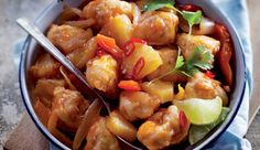 Sweet and sour chicken #recipe. Serve with steamed rice.