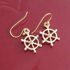 Gold Sailor Earrings from Picsity.com