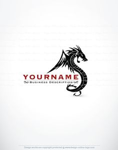 Exclusive Design: Dragon Logo   Compatible FREE Business Card