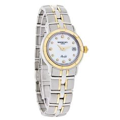 Best Buy Raymond Weil Womens 9440-STG-97081 Parsifal Diamond Accented 18k Gold-Plated and Stainless Steel Watch at http://get.nazuka.net/review/product.php?asin=B002VEC97A