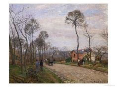 The Road to Louveciennes, 1870 by Camille Pissarro