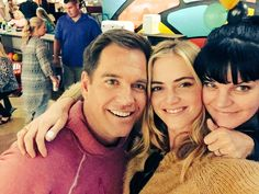 """NCIS wrap party with 2 people I love, Michael Weatherly & Pauley Perrette."""
